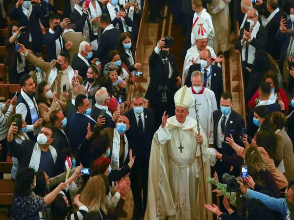 Pope Francis at the Chaldean Cathedral of
