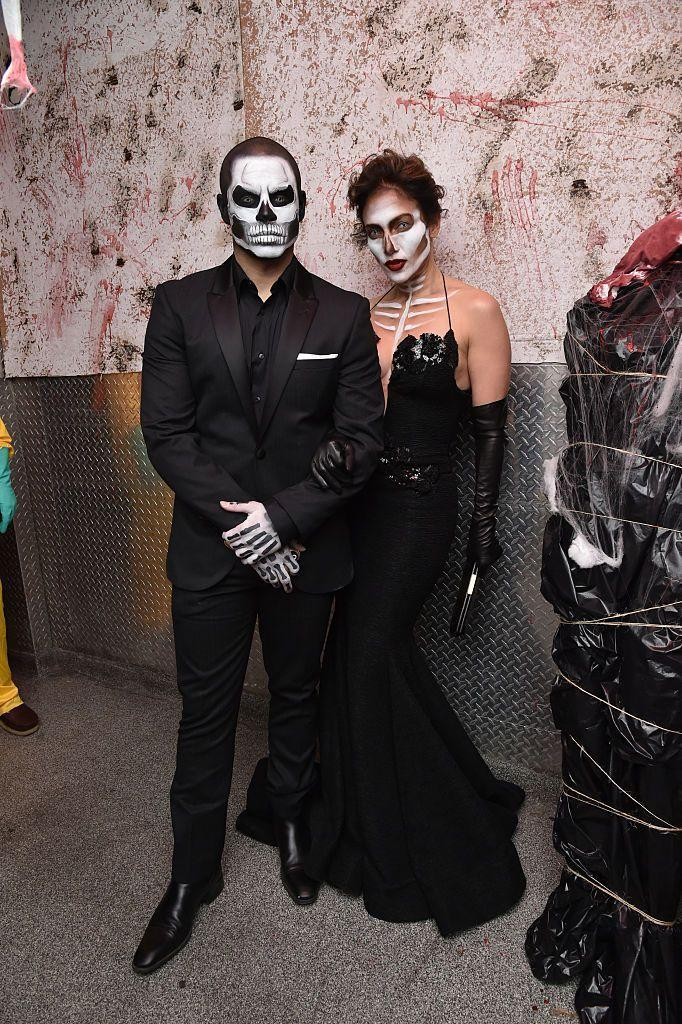 """<p>As long as you, your partner, or someone you know has a talent for makeup, then these sexy skeleton costumes only involve all-black ensembles to put together. </p><p><a class=""""link rapid-noclick-resp"""" href=""""https://www.amazon.com/Mehron-Makeup-Premium-Character-Skeleton/dp/B007YTBMM0?tag=syn-yahoo-20&ascsubtag=%5Bartid%7C10070.g.1923%5Bsrc%7Cyahoo-us"""" rel=""""nofollow noopener"""" target=""""_blank"""" data-ylk=""""slk:SHOP SKELETON MAKEUP KIT"""">SHOP SKELETON MAKEUP KIT</a></p>"""
