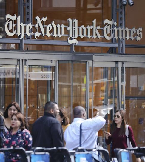 The New York Times headquarters in Manhattan. The newspaper has several bureaus in mainland China as well as Hong Kong. Photo: AP
