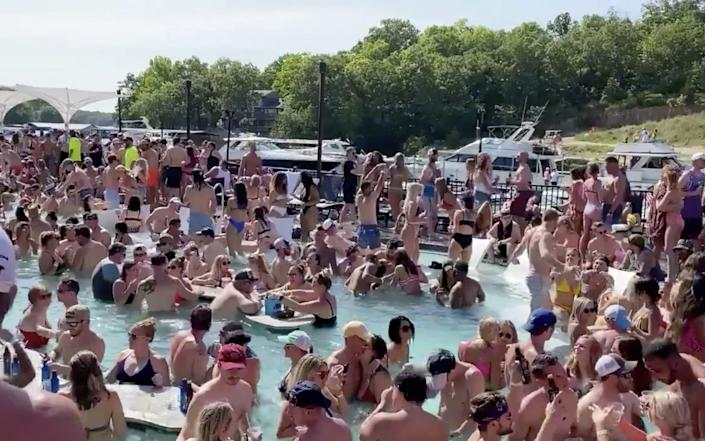 Revelers celebrating Memorial Day weekend sparked concern among health officials - Twitter/Lawler50