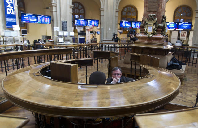 The Spanish stock exchange in Madrid, which two operators are bidding for. Photo: AP Photo/Paul White