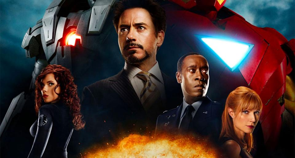 Detail from the poster for Iron Man 2. (Marvel Studios)