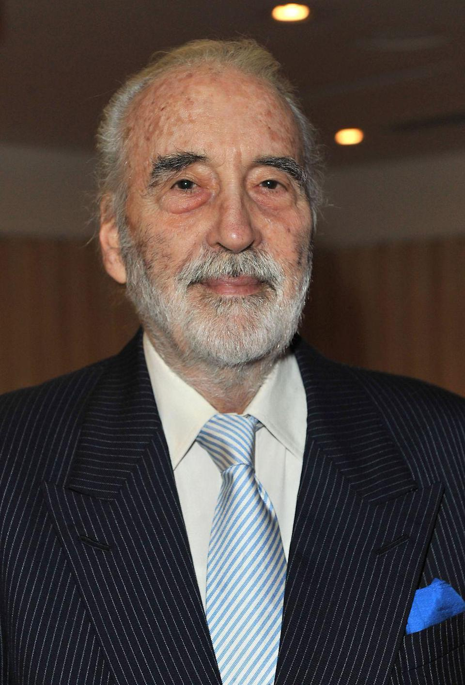 """<p>After appearing as the wizard Saruman in Peter Jackson's <em>Lord of the Rings</em> films, Christopher Lee was """"shocked"""" when he found out that he had been completely edited out of the franchise's final film. The actor was so insulted, he decided <a href=""""https://www.theguardian.com/film/2003/nov/13/lordoftherings.news"""" rel=""""nofollow noopener"""" target=""""_blank"""" data-ylk=""""slk:not to attend the film's premiere"""" class=""""link rapid-noclick-resp"""">not to attend the film's premiere</a>. </p>"""