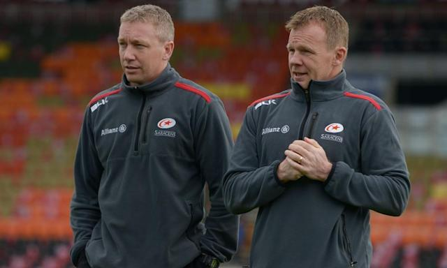 "<span class=""element-image__caption"">Phil Morrow, left, with Saracens' director of rugby Mark McCall who credits his performance director for much of his club's success in recent years.</span> <span class=""element-image__credit"">Photograph: Joe Toth/BPI/Rex/Shutterstock</span>"