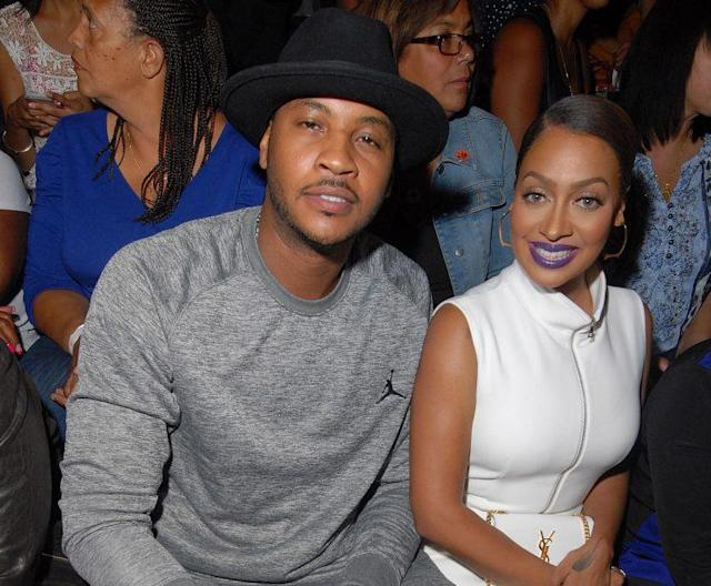 Carmelo Anthony and his wife, La La Anthony. (Getty)