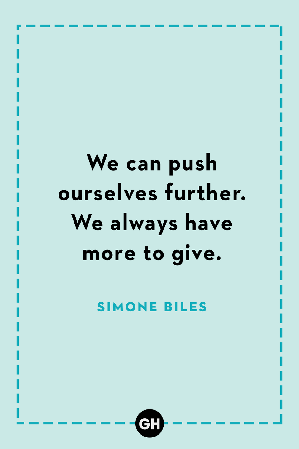 <p>We can push ourselves further. We always have more to give.</p>