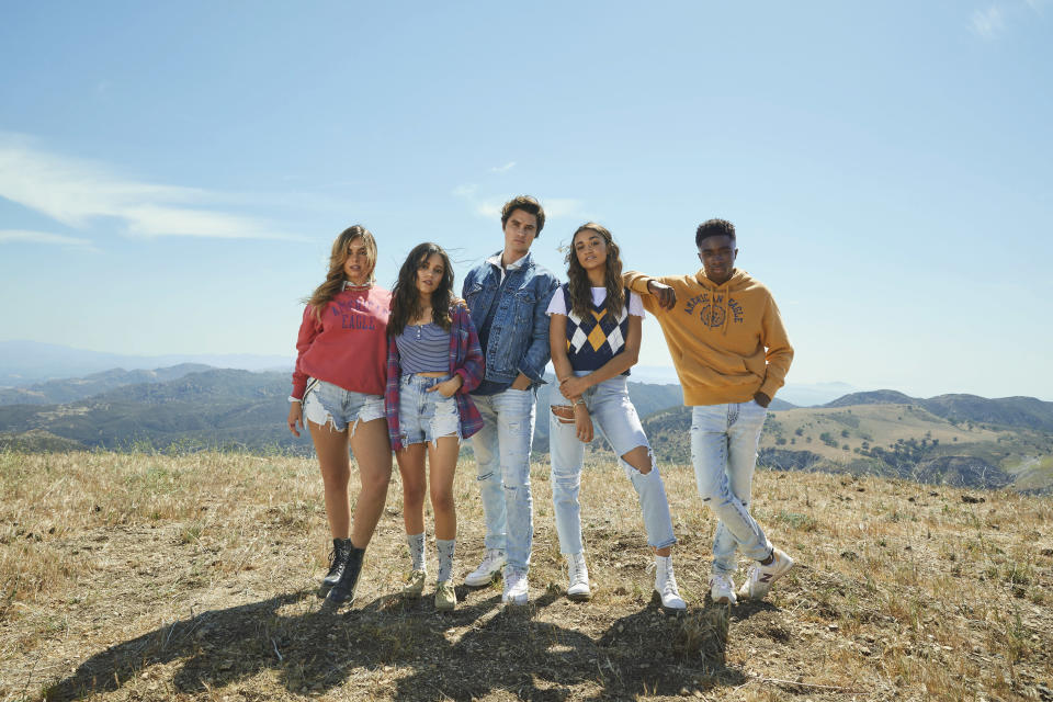 Cast members of American Eagle's fall 2021 back-to-school campaign. - Credit: Courtesy Photo AEO