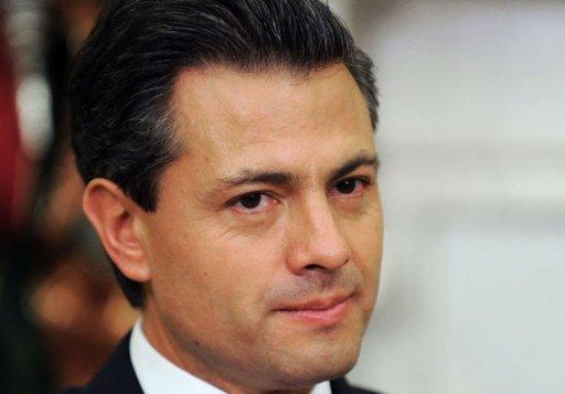 President-elect Enrique Pena Nieto of Mexico speaks during a bilateral meeting with US President Barack Obama in the Oval Office at the White House in Washington. Obama and Pena Nieto face an agenda of regional and global issues, likely to include the drug war raging along their shared border of more than 1,800 miles (3,000 kilometers)