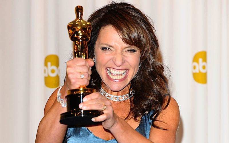 Susanne Bier with the Best Foreign Language Film award, received for 'In A Better World' in 2011 (Credit: Getty)