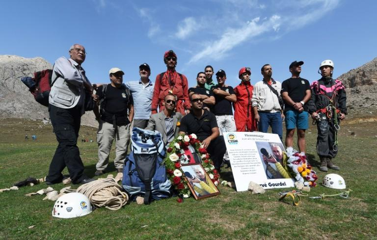 Climbers and friends of Herve Gourdel attend a memorial in his honour in Algeria's Bouira, south of the area the French hiker was abducted