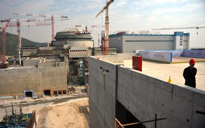 Taishan nuclear power station under construction in 2013