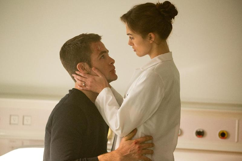 "This image released by Paramount Pictures shows Keira Knightley, right, and Chris Pine in ""Jack Ryan: Shadow Recruit,"" an action thriller about a covert CIA analyst who uncovers a Russian plot to crash the U.S. economy with a terrorist attack. (AP Photo/Paramount Pictures, Larry Horricks)"