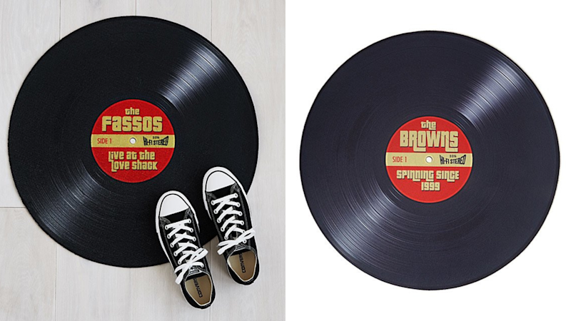 Best personalized gifts: Personalized Record Doormat