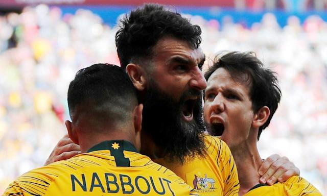 Mile Jedinak's celebration after his penalty epitomises the spirit in the Socceroos camp despite their narrow opening defeat against France.