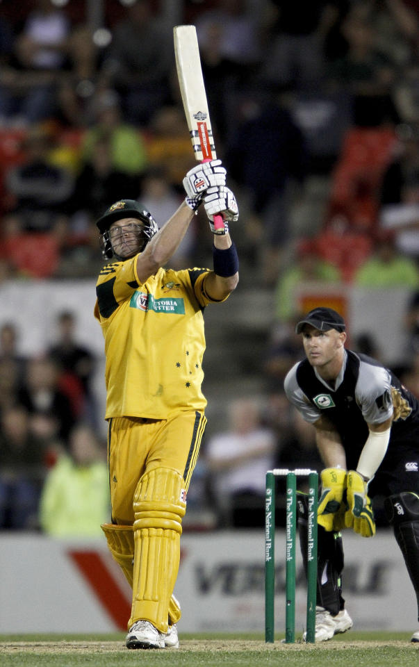 CHRISTCHURCH, NEW ZEALAND - FEBRUARY 28:  Cameron White of Australia bats during the Twenty 20 International match between the New Zealand Black Caps and Australia at AMI Stadium on February 28, 2010 in Christchurch, New Zealand.  (Photo by Martin Hunter/Getty Images)