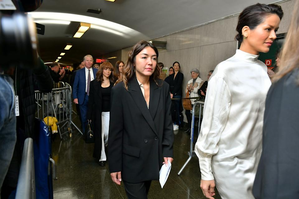 NEW YORK, NEW YORK - MARCH 11: Mimi Haleyi walks into the courtroom for sentencing of movie mogul Harvey Weinstein on March 11, 2020 in New York City. Haleyi is one of two women who were to give victim impact statements ahead of sentencing for Weinstein, who faces a minimum sentence of 5 years and a maximum of 25 years after being convicted of rape and criminal sexual assault. (Photo by Roy Rochlin/Getty Images)