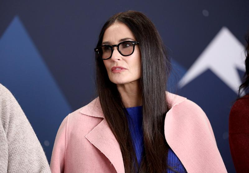 PARK CITY, UT - JANUARY 28: Demi Moore of 'Corporate Animals' attends The IMDb Studio at Acura Festival Village on location at The 2019 Sundance Film Festival - Day 4 on January 28, 2019 in Park City, Utah. (Photo by Rich Polk/Getty Images for IMDb)