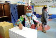 Referendum on a new Chilean constitution in Canete town