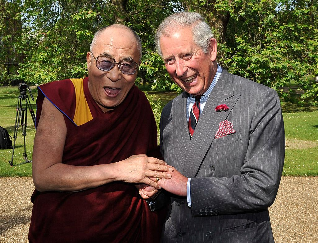 Speaking of excited famous people, both Prince Charles and the Dalai Lama couldn't hold back their happiness as they met up in London on Wednesday. The Tibetan advocate was there as part of his week-long tour of the United Kingdom. (6/20/2012)