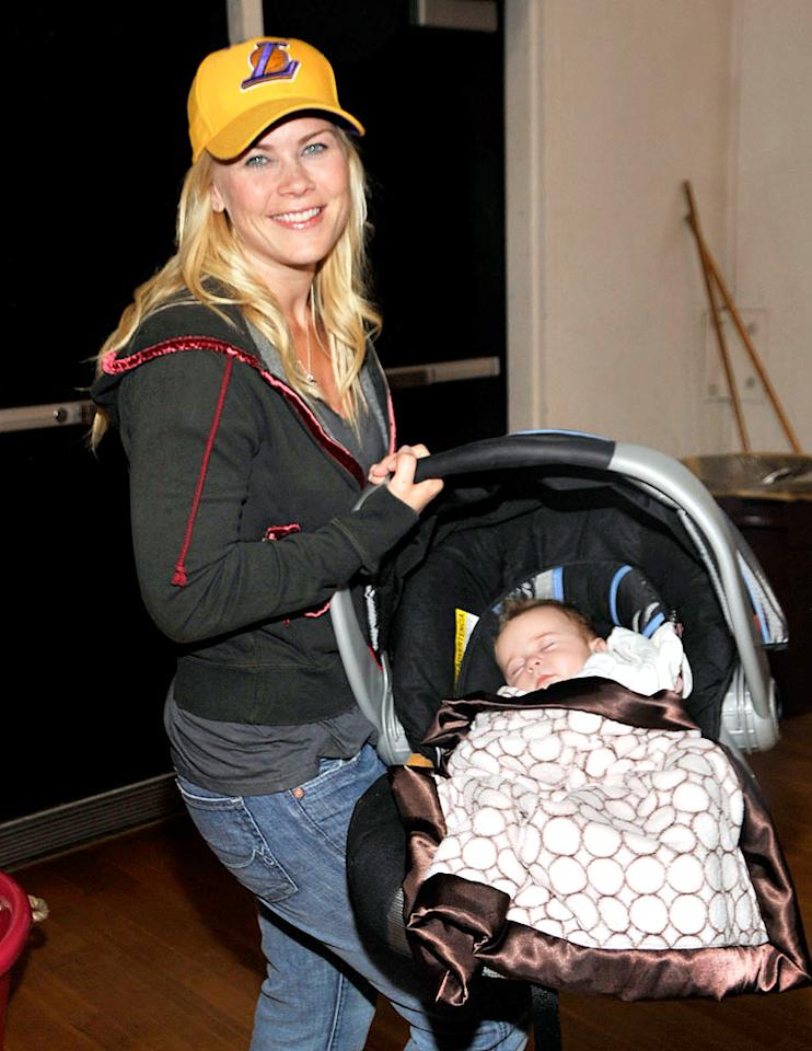"""Days of Our Lives"" star Alison Sweeney gave birth to daughter Megan in January. She was only acting when she appeared to go into labor on the ""Ellen"" show a month earlier. John M. Heller/<a href=""http://www.gettyimages.com/"" target=""new"">GettyImages.com</a> - May 29, 2009"