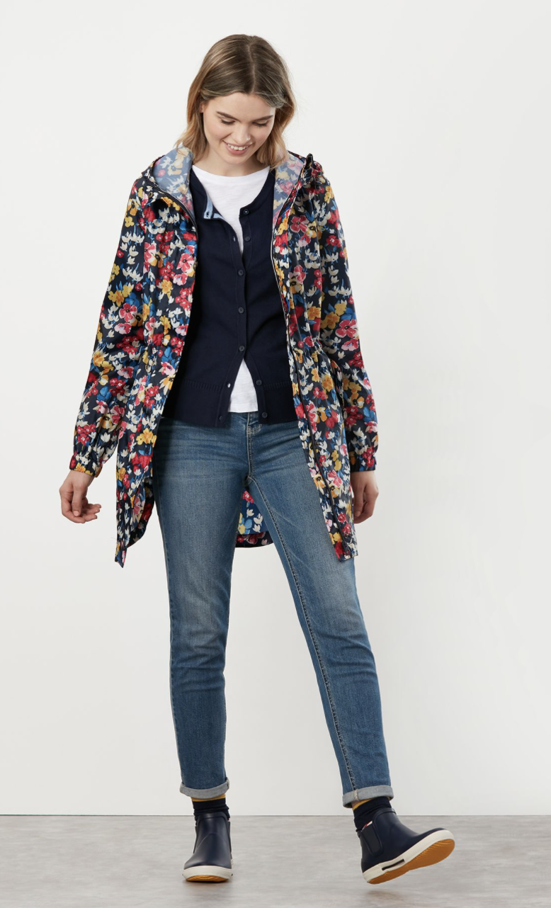 Joules' Golightly Waterproof Jacket comes in various prints and patterns.  (Joules)
