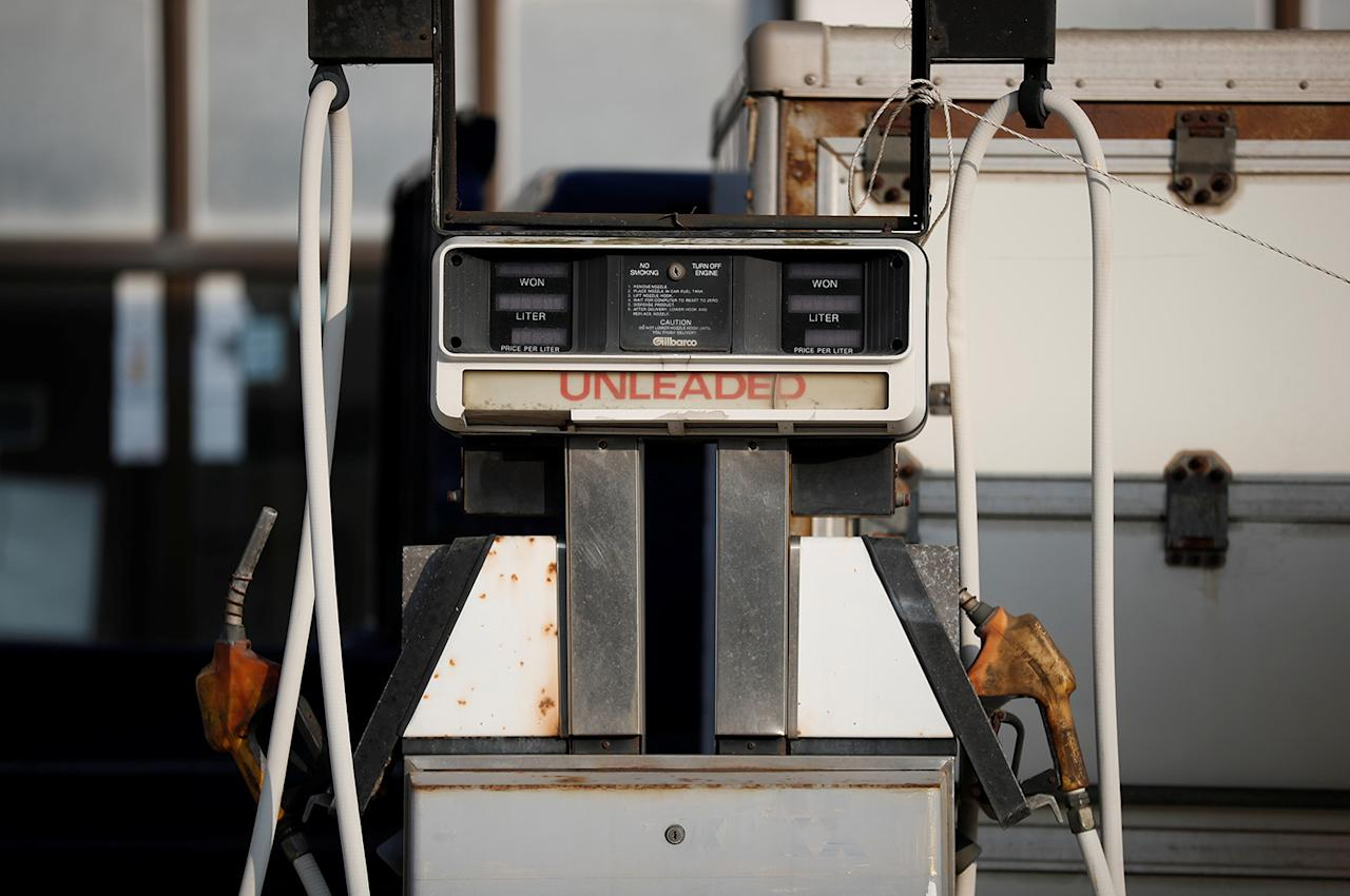 <p>An abandoned gas station stands near the abandoned Alps Ski Resort located near the demilitarized zone separating the two Koreas in Goseong, South Korea, Jan. 17, 2018. (Photo: Kim Hong-Ji/Reuters) </p>