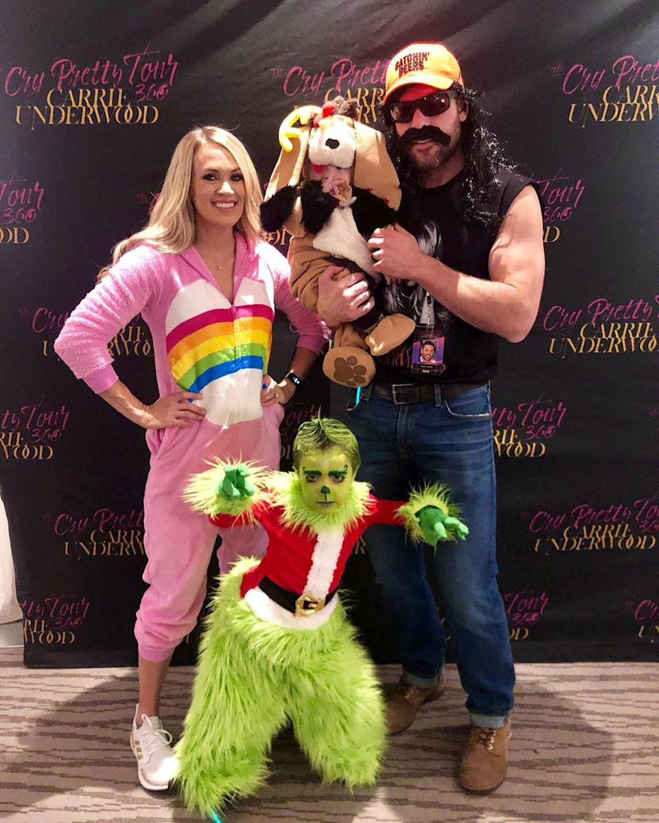"""<p> Carrie Underwood is a """"Good Girl"""" and a good mom.</p> <p>The country star is mother to son<a href=""""https://people.com/parents/carrie-underwood-warns-isaiahs-crush-maddie-marlow/"""" rel=""""nofollow noopener"""" target=""""_blank"""" data-ylk=""""slk:Isaiah Michael"""" class=""""link rapid-noclick-resp""""> Isaiah Michael</a>, 6, and <a href=""""https://people.com/parents/carrie-underwood-welcomes-son-jacob-bryan-photos/"""" rel=""""nofollow noopener"""" target=""""_blank"""" data-ylk=""""slk:Jacob Bryan"""" class=""""link rapid-noclick-resp"""">Jacob Bryan</a>, 2, who she shares with husband <a href=""""https://people.com/country/carrie-underwood-mike-fisher-love-story-details/"""" rel=""""nofollow noopener"""" target=""""_blank"""" data-ylk=""""slk:Mike Fisher"""" class=""""link rapid-noclick-resp"""">Mike Fisher</a>. </p> <p>This busy mom has had to do her fair share of balancing work with mom duties as she <a href=""""https://people.com/parents/carrie-underwood-second-time-mom-cry/"""" rel=""""nofollow noopener"""" target=""""_blank"""" data-ylk=""""slk:took both her children on her 2019 """"Cry Pretty"""" tour."""" class=""""link rapid-noclick-resp"""">took both her children on her 2019 """"Cry Pretty"""" tour.</a></p> <p>""""There is a thing about motherhood that makes you feel like, 'Okay, if I can do that, I can do anything,'"""" Underwood told <a href=""""https://people.com/parents/carrie-underwood-100-reasons-emotional-journey-miscarriages/"""" rel=""""nofollow noopener"""" target=""""_blank"""" data-ylk=""""slk:PEOPLE in 2019"""" class=""""link rapid-noclick-resp"""">PEOPLE in 2019</a> about becoming a mother of two. """"And I feel like I'm a little older, a little wiser. This isn't my first rodeo.""""</p> <p>Underwood also got candid about her past pregnancy difficulties before welcoming her youngest son. </p> <p>""""I put a lot of stress on myself — I feel like a lot of moms do, a lot of women do,"""" she said. """"The best moments in my life are when I say, 'Hey, I can't control everything, and that's okay. God is in control.'""""</p>"""