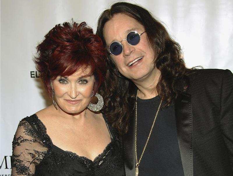 """FILE - This is a Tuesday, Sept. 25, 2007 file photo of Sharon and Ozzy Osbourne  as they arrive at the Elton John AIDS Foundation's sixth annual benefit """"An Enduring Vision"""" at The Waldorf-Astoria Hotel, in New York.  Rocker Ozzy Osbourne has denied Tuesday April 16, 2013, rumors he has split from wife Sharon, and has apologized to his family for his return to drink and drugs. (AP Photo/Evan Agostini)"""
