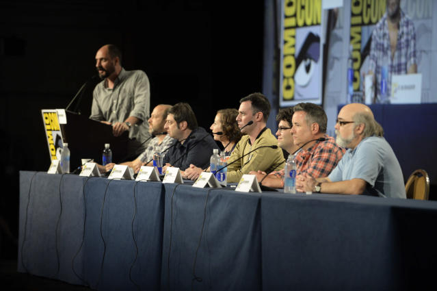 "Cast and executive producers talk to fans during the ""Bob's Burgers"" panel on Friday, July 19 during Fox Fanfare At San Diego Comic-Con 2013."
