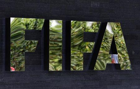 spoThe logo of soccer's international governing body FIFA is seen on its headquarters in Zuric
