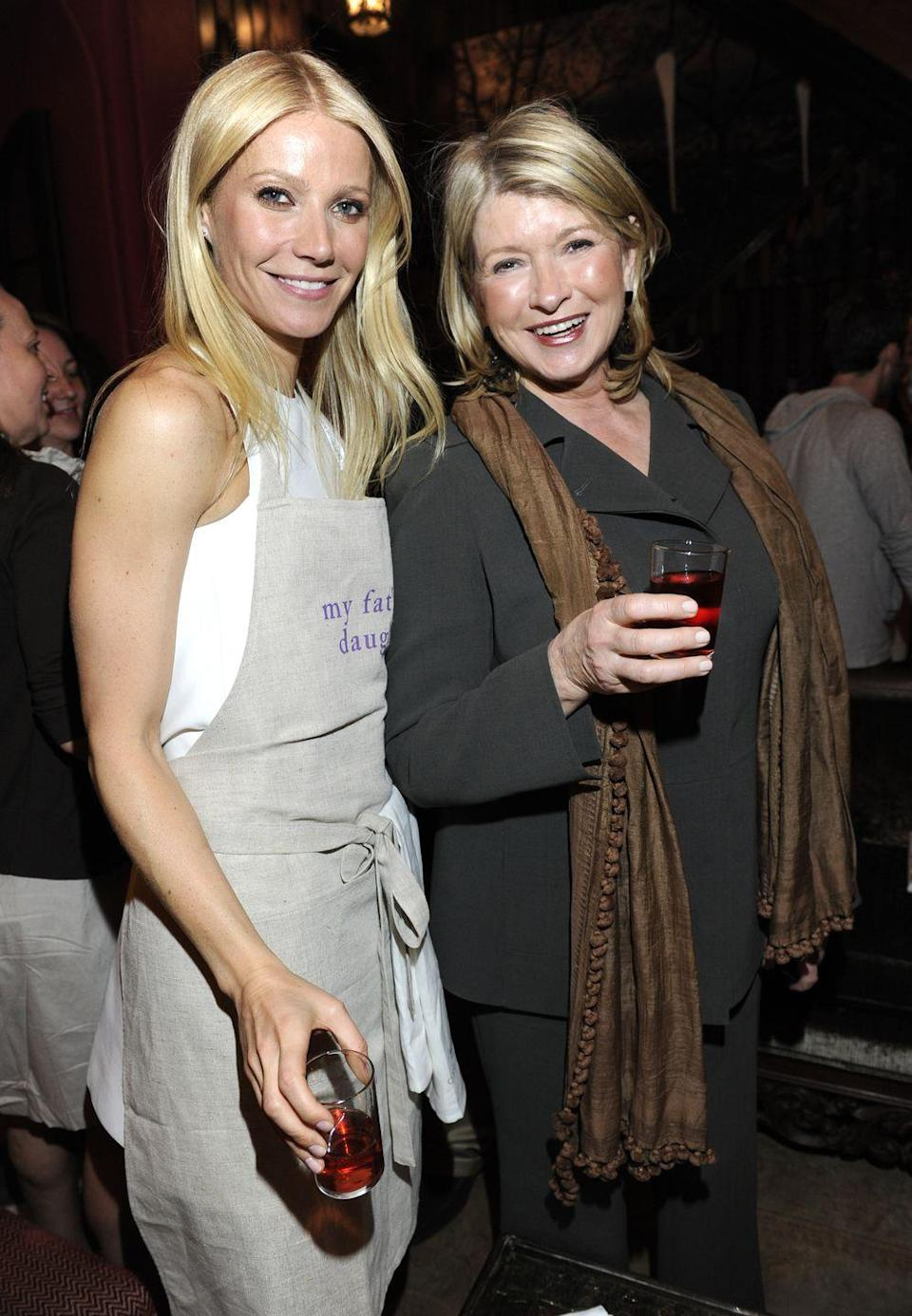 """<p>Ah, the battle of the lifestyle gurus. The feud between Gwyneth and Martha started back in 2014, when Martha didn't hold back in revealing what she thought about Gwyneth's lifestyle business, Goop. """"She's a movie star. If she were confident in her acting, she wouldn't be trying to be Martha Stewart,"""" she told <a href=""""http://www.etonline.com/news/151140_martha_stewart_slams_gwyneth_paltrow/"""" rel=""""nofollow noopener"""" target=""""_blank"""" data-ylk=""""slk:Porter magazine"""" class=""""link rapid-noclick-resp""""><em>Porter</em> magazine</a>. </p>"""