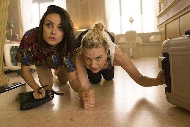 "<p>Spy comedies have become a time-honored tradition in Hollywood, but none have had as intriguing a pairing as Kate McKinnon and Mila Kunis. They're a duo of (seemingly) average women roped into the world of high-stakes espionage when it's revealed Kunis's ex (Justin Theroux) is a spy. | <a href=""https://www.yahoo.com/entertainment/spy-dumped-teaser-trailer-mila-194710703.html"" data-ylk=""slk:Watch trailer;outcm:mb_qualified_link;_E:mb_qualified_link"" class=""link rapid-noclick-resp newsroom-embed-article"">Watch trailer</a> (Lionsgate) </p>"
