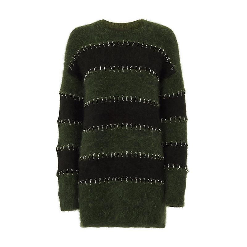 """<a rel=""""nofollow"""" href=""""http://www.anrdoezrs.net/links/3550561/type/dlg/https://www.intermixonline.com/product/alexander+wang+metal+ring+piercing+striped+sweater+dress.do?sortby=ourPicks&from=Search&"""">Metal Ring Piercing Striped Sweater Dress, Alexander Wang, $1295</a><ul>     <strong>Related Articles</strong>     <li><a rel=""""nofollow"""" href=""""http://thezoereport.com/fashion/style-tips/box-of-style-ways-to-wear-cape-trend/?utm_source=yahoo&utm_medium=syndication"""">The Key Styling Piece Your Wardrobe Needs</a></li><li><a rel=""""nofollow"""" href=""""http://thezoereport.com/living/entertaining/thanksgiving-party-favor/?utm_source=yahoo&utm_medium=syndication"""">DIY This Last-Minute Thanksgiving Party Favor</a></li><li><a rel=""""nofollow"""" href=""""http://thezoereport.com/fashion/celebrity-style/michelle-obama-dries-van-noten/?utm_source=yahoo&utm_medium=syndication"""">Michelle Obama Just Proved Her Fashion Game Is Stronger Than Ever</a></li></ul>"""