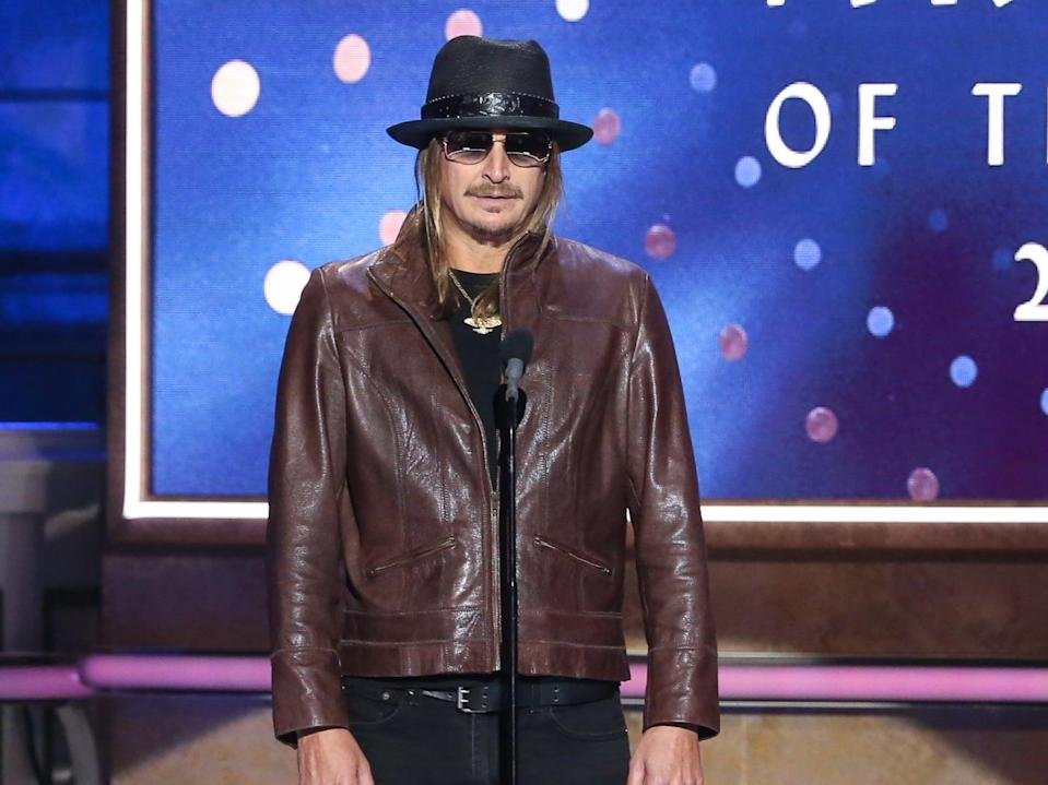 Kid Rock speaks during the 2019 CMT Artists of the Year event on 16 October 2019 in Nashville, Tennessee (Terry Wyatt/Getty Images)