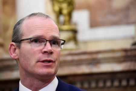 FILE PHOTO: Ireland's Foreign Minister Simon Coveney speaks during a news conference in Dublin, Ireland, April 12, 2018. REUTERS/Clodagh Kilcoyne/File Photo