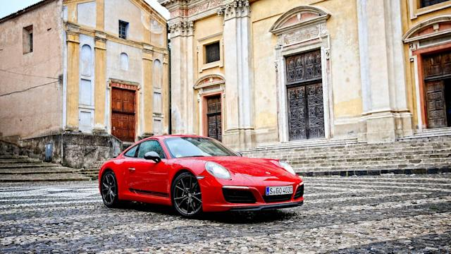 "<p><a href=""https://www.motor1.com/porsche/"" rel=""nofollow noopener"" target=""_blank"" data-ylk=""slk:Porsche"" class=""link rapid-noclick-resp"">Porsche</a> is a purist's dream with its generous offerings of manual transmissions. Porsche has pledged to offer more ""pure"" driving models, and in making that announcement unveiled the <a href=""https://www.motor1.com/porsche/911/"" rel=""nofollow noopener"" target=""_blank"" data-ylk=""slk:Porsche 911"" class=""link rapid-noclick-resp"">Porsche 911</a> Carrera T sports car. With a biturbo flat-six 3.0-liter engine in the rear paired with a seven-speed manual transmission. The engine produces 370 horsepower and 331 pound-feet of torque. The T also reduces weight by 44 pounds to help enhance the driving experience. </p>"