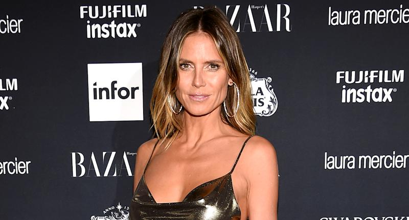 Heidi Klum takes Halloween seriously. (Photo: Dimitrios Kambouris/Getty Images for Harper's BAZAAR)