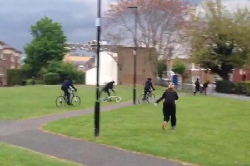 The youths fled the scene on bikes