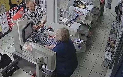 Stephen Nicholson pictured on Tesco CCTV - Credit: Hampshire Constabulary/PA