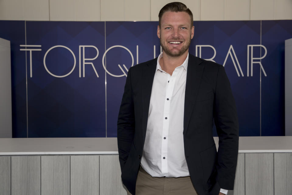 Sam Groth attends the Formula 1 Australian Grand Prix Preview Day on March 09, 2020 in Melbourne, Australia.