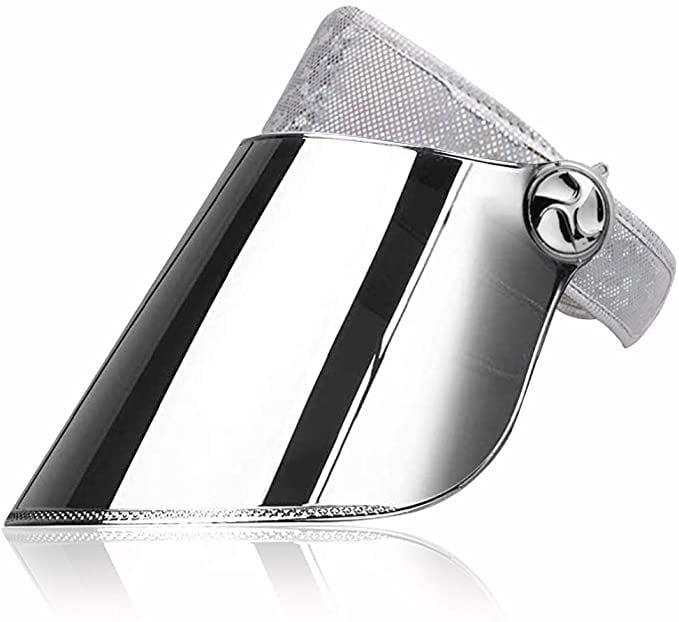 <p>Keep it monochromatic with this <span>WAYCOM UPF 50+ Sun Visor </span> ($19). It has silver mirror lens with a shimmery glam headband.</p>