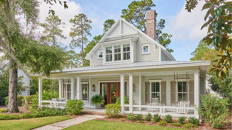 "<p><a href=""https://houseplans.southernliving.com/plans/SL2000"" rel=""nofollow noopener"" target=""_blank"" data-ylk=""slk:SL-2000"" class=""link rapid-noclick-resp"">SL-2000</a></p> <p>An already spacious three bedrooms (four possible) and three-and-a-half baths spanning two floors and 2,754-square feet creates a welcoming retreat. Need even more space? A bonus room above the detached garaged can be added to provide an additional 670 square feet.</p>"