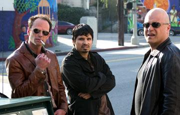 Walton Goggins, Michael Pena, and Michael Chiklis in 'The Shield'