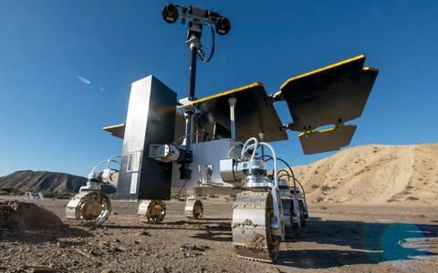 Last year Airbus tested the rover in Spain - Credit: Geoff Pugh for the Telegraph