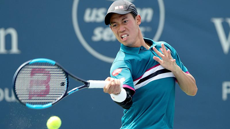 Seen here, Kei Nishikori in action during a hardcourt match in the United States.