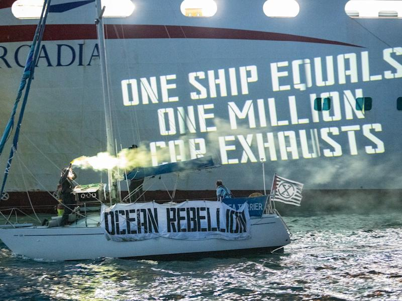 Activists including Team GB sailor Laura Baldwin are calling for greater regulation of ships at sea (Guy Reece)