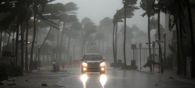 A vehicle drives along Ocean Drive in South Beach.
