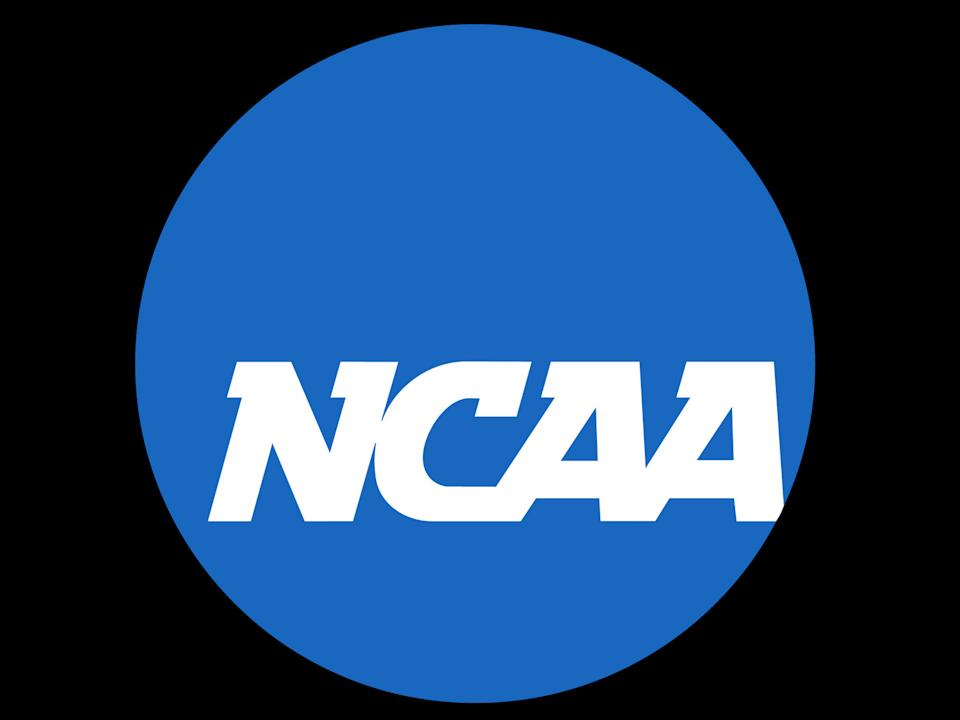 NCAA logo, graphic element on black