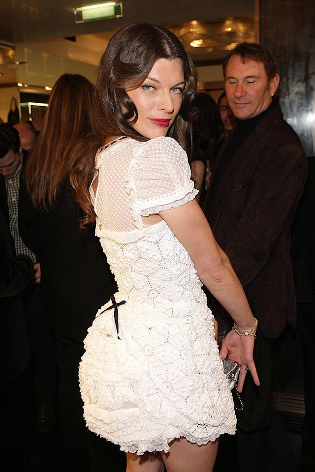 "Apparently Milla Jovovich didn't get the memo. Diapers belong on babies, not on 33-year-old women! Venturelli/<a href=""http://www.wireimage.com"" target=""new"">WireImage.com</a> - March 7, 2009"