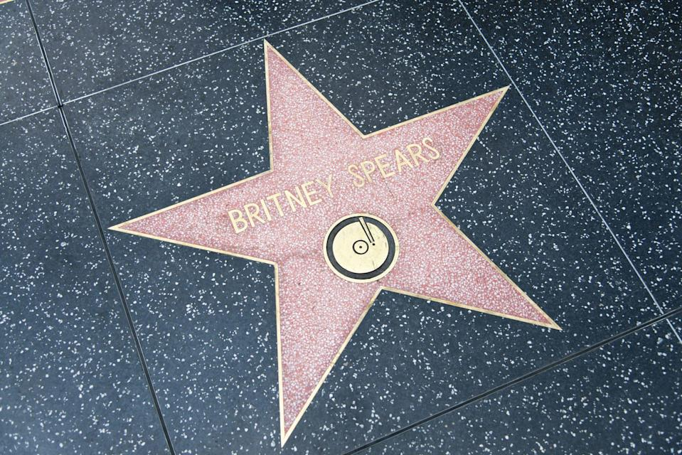 Los Angeles, United States - May 18, 2015: Star of Britney Spears at the pavement of the Walk of Fame in Hollywood.